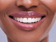 Closeup of beautiful health smile