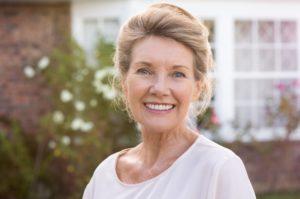 Older woman smiling.